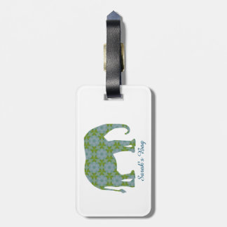 Floral Wild Elephant Customizable Luggage Tag