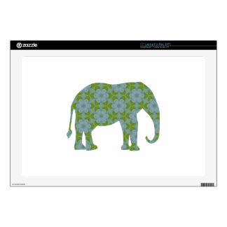 Floral Wild Elephant Laptop Decals