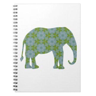 Floral Wild Elephant Notebook