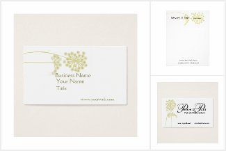 Floral WildFlower Business Card and Supplies