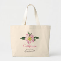 Floral Will You Be My bridesmaid bag