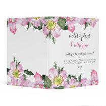 Floral Will You Be My bridesmaid planner Mini Binder