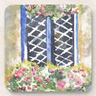 FLORAL WINDOW COASTERS