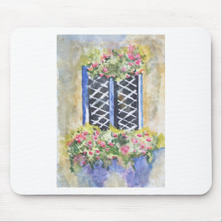 FLORAL WINDOW MOUSE PAD