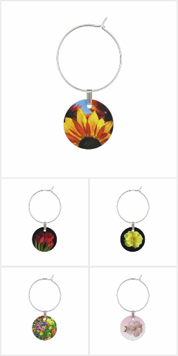 Floral Wine Charms