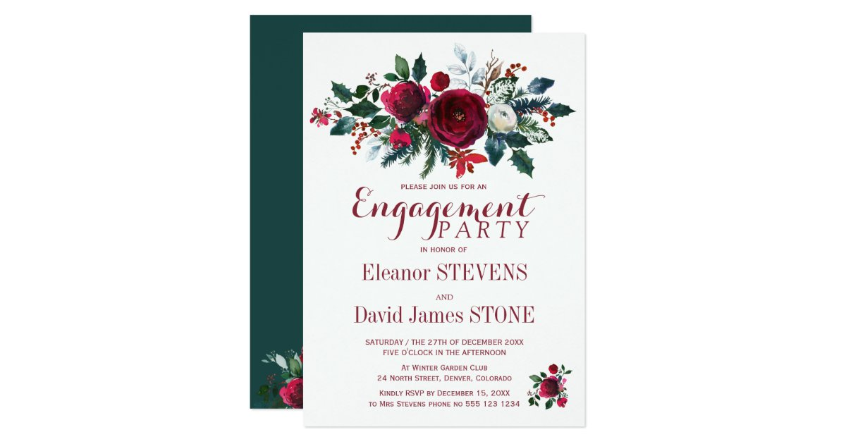 Christmas Engagement Invitations & Announcements | Zazzle