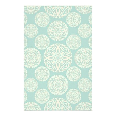 floral winter snowflake stationery zazzle com