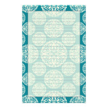 Floral winter snowflake stationery