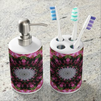 Floral Wisp - Tooth Brush Holder and Soap Dispense