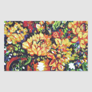 floral with a southwest flair rectangle sticker
