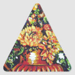 floral with a southwest flair triangle sticker