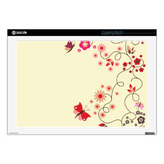 floral with butterfly laptop skin