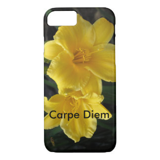 floral with Carpe diem iPhone 7 Case