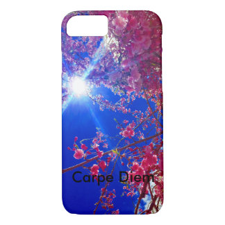 floral  with Carpe Diem reminder iPhone 7 Case