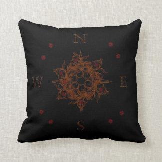 Floral Wooden Compass Pillow Pillows