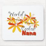 Floral World's Coolest Nana Mouse Pad