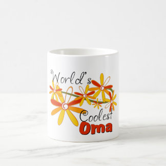 Floral World's Coolest Oma Coffee Mug