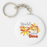Floral World's Coolest Oma Key Chain