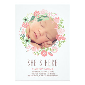 Floral Wreath | Birth Announcement