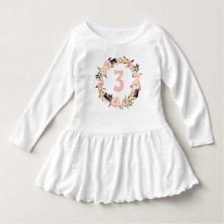 Floral Wreath Boho Birthday Shirt for a Girl