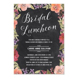 Floral Wreath | Bridal Shower Luncheon Card