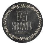 Floral Wreath | CHALKBOARD BABY SHOWER INVITATION