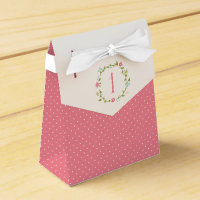Floral Wreath Girl 1st Birthday Favor Box