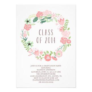 Floral Wreath | Graduation Party Invitation