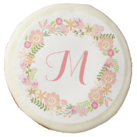 Floral Wreath Monogram Cookies