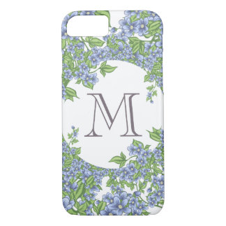 Floral Wreath Monogram iPhone 8/7 Case