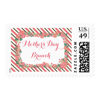Floral Wreath Mother's Day Brunch Postage