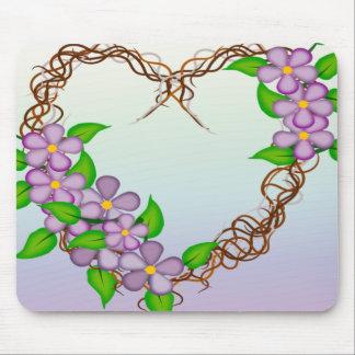 Floral Wreath Mouse Pad