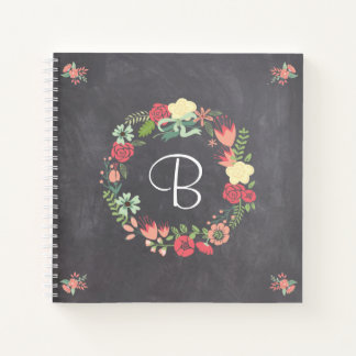 Floral Wreath Notebook