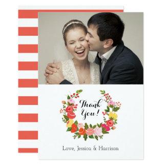 Floral Wreath - Thank You Card