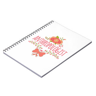 Floral Wreath With Bow Anthropologist Notebook