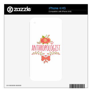 Floral Wreath With Bow Anthropologist Skins For iPhone 4