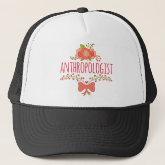 Floral Wreath With Bow Anthropologist Trucker Hat