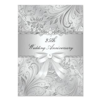 """Floral y arquee el 25to aniversario de boda invitación 5"""" x 7"""""""