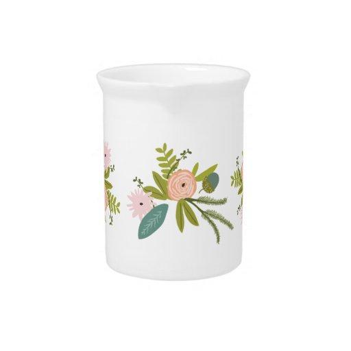 Floral y fauna jarra
