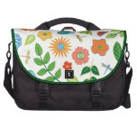 Floral y libélula modelados bolsas para portatil