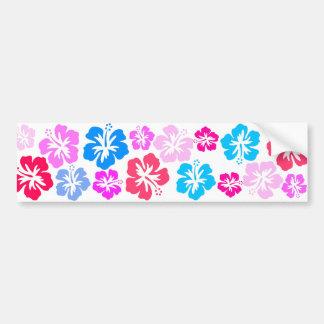 Floral y pink pegatina para auto