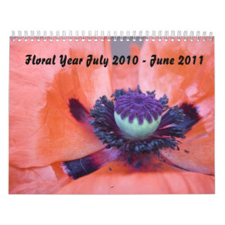 Floral Year July 2010 - June 2011 Calendar