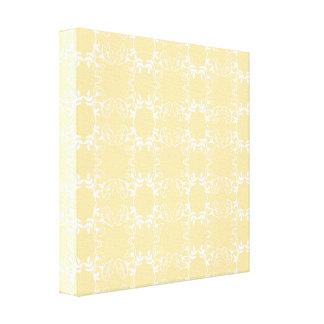 Floral Yellow And White Spring  Canvas Wall Art