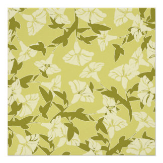 Floral Yellow And White Spring Colors Poster