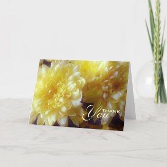 Floral Yellow Chrysanthemum Sympathy Thank You
