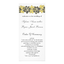 "floral ""yellow gray"" Wedding program"