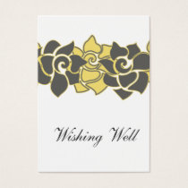 "floral ""yellow gray"" wishing well cards"
