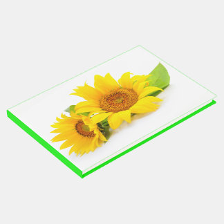 Floral Yellow & Green Sunflowers Wedding Party Guest Book
