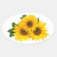 Sunflower Stickers Zazzle