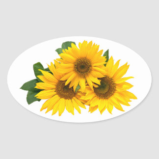 Floral Yellow Sunflower Flower Stickers